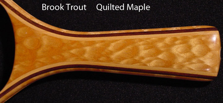 brook trout net quilted maple